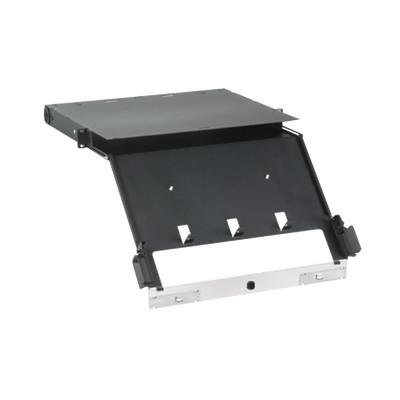 PANDUIT - FCE1U - Panel de Distribución de Fibra Óptica Acepta 4 Placas FAP o FMP Bandeja Deslizable e Inclinable Hacia Abajo Hasta 96 Fibras Color Negro 1UR