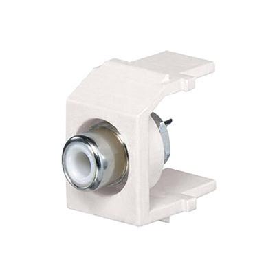 PANDUIT - NKRSMWEIY - Conector RCA Tipo Keystone con RCA para Soldar Color Blanco y Módulo Marfil