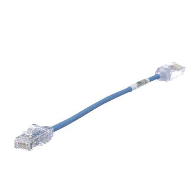 PANDUIT - UTP28SP0.2MBU - Cable de Parcheo TX6 UTP Cat6 Diámetro Reducido (28AWG) Color Azul 20cm