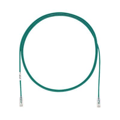 PANDUIT - UTP28SP7GR - Cable de Parcheo TX6 UTP Cat6 Diámetro Reducido (28AWG) Color Verde 7ft