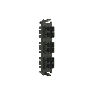 SIEMON - RIC-F-SC12-01 - Placa acopladora de Fibra Óptica Quick-Pack Con 6 Conectores SC Duplex (12 Fibras) Negro