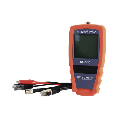 TEMPO - NC-500 - Probador Profesional para cable UTP STP y Cable Coaxial (NETcat® Pro2) con Pantalla táctil retroiluminada