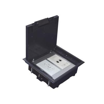 THORSMAN - TH-CP-2M - Caja de piso para dos módulos universales (Socket M2) para alimentación eléctrica y redes de datos (11000-33401) No incluye faceplates