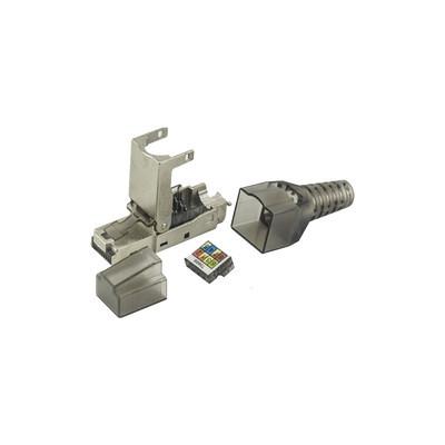 LINKEDPRO - LPKJ6A17S - Plug modular RJ45 Blindado Categoría 6A -Sin herramienta para terminación en campo