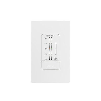 LUTRON ELECTRONICS - LRA-WST-C-WH - Control de pared para Termostato seeTemp grados centigrados