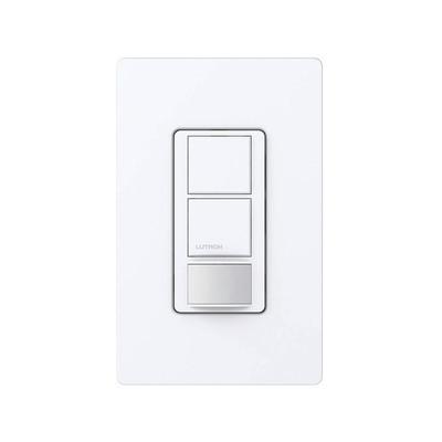 LUTRON ELECTRONICS - MS-OPS6-DDV-WH - Switch on/off / Linea Maestro doble circuito sensor de ocupación un solo polo no requiere neutro 120-227v
