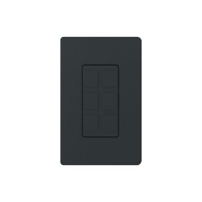 LUTRON ELECTRONICS - SC-6PF-MN - Placa de 6 puertos color negro night.