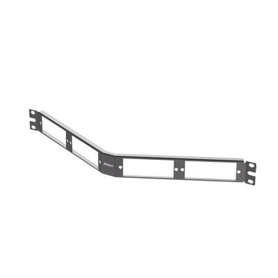 PANDUIT - CFAPPBL1A - Patch Panel de Fibra Óptica Para 4 Placas Acopladras FAP o FMP Angulado Color Negro 1UR