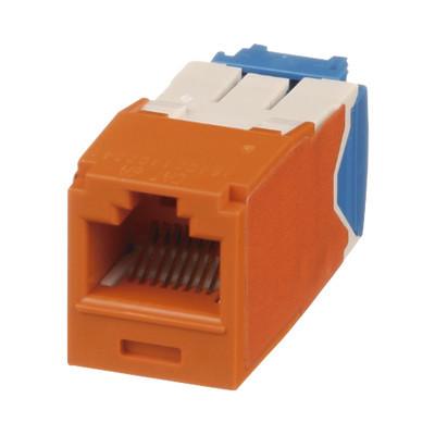 PANDUIT - CJ6X88TGOR - Conector Jack RJ45 Estilo TG Mini-Com Categoría 6A de 8 posiciones y 8 cables Color Naranja