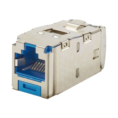 PANDUIT - CJS6X88TGBUY - Conector Jack RJ45 Blindado Estilo TG Mini-Com Categoría 6A de 8 posiciones y 8 cables Color Azul