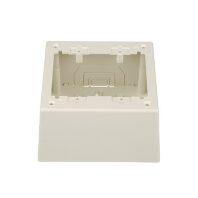 PANDUIT - JBP2DIW - Caja de Pared Superficial Doble con Divisor Opcional uso Universal con Placas de Pared Color Blanco Mate