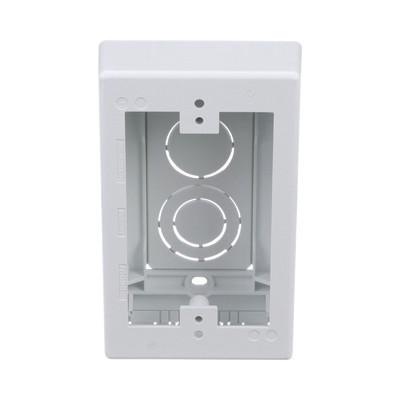 PANDUIT - JBX3510WH-A - Caja de Pared Superficial uso Universal con Placas de Pared Con Cinta Adhesiva Color Blanco