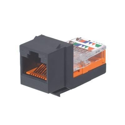 PANDUIT - NK5E88MBLY - Conector Jack Estilo Leadframe Tipo Keystone Categoría 5e de 8 posiciones y 8 cables Color Negro