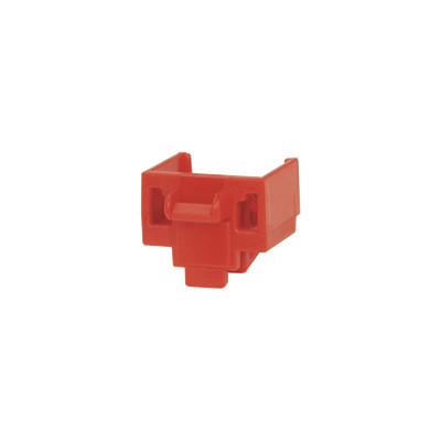 PANDUIT - PSL-DCJB - Kit de 10 Dispositivos para Bloquear Puertos RJ45 Color Rojo Incluye Llave de Extracción