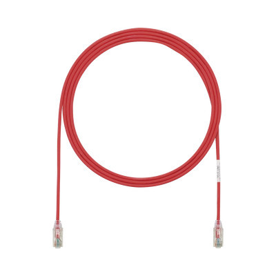 PANDUIT - UTP28SP7RD - Cable de Parcheo TX6 UTP Cat6 Diámetro Reducido (28AWG) Color Rojo 7ft