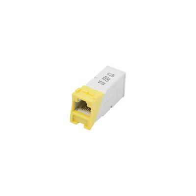 SIEMON - Z6-05 - Jack Z-MAX UTP Categoría 6 Montaje híbrido en Placa de Pared (Plano y Angulado) Color Amarillo