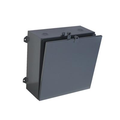 THORSMAN - TH-GAB - Gabinete Eléctrico de lamina galvanizada de 584 x 584 x 272 mm auto-extinguible resistente a polvo agua y rayos UV Color Gris (THCGE001)
