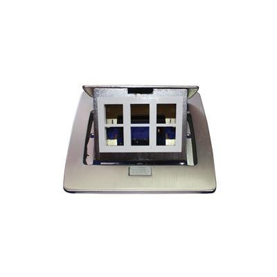 THORSMAN - TH-MC-PD - Mini caja de piso rectangular para datos y conectores tipo Keystone Color y material en acero inoxidable (3 puertos) (11000-21202)
