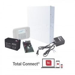 HONEYWELL HOME RESIDEO - VISTA48LANTB8AH - Kit de Panel de Alarma VISTA48LA con Batería de 9Ah Transformador y Gabinete