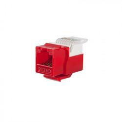 LINKEDPRO - LP-KJ-516-RD - Módulo Jack Keystone Cat5e sin Herramienta (toolless) para faceplate - Color Rojo