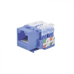 LINKEDPRO - LP-KJ-601-BU - Módulo Jack 110 Cat6 Keystone para faceplate - Color Azul
