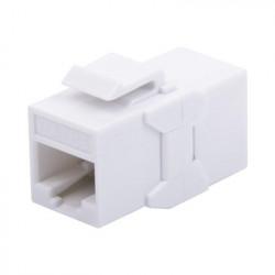 LINKEDPRO - LPKJUC6A - Acoplador UTP Cat6A hembra RJ45 a RJ45 hembra Color Blanco