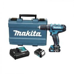 "MAKITA - HP-333-DSAE - Rotomartillo/Taladro Inalámbrico (Broquero 3/8"") de 1700 RPM 12Vcd Torque 28 N.m (Incluye 2 Baterías y Cargador Rápido). Maletín plástico."