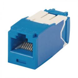 PANDUIT - CJ6X88TGBU - Conector Jack RJ45 Estilo TG Mini-Com Categoría 6A de 8 posiciones y 8 cables Color Azul