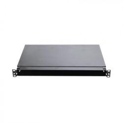 PANDUIT - FMT1 - Panel de Distribución de Fibra Óptica Acepta 4 Casetes QuickNet o Placas FAP/FMP con Panel CFAPPBL1 (No Incluido) Bandeja Fija Hasta 96 Fibras Color Negro 1UR