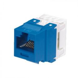 PANDUIT - NK688MBU - Conector Jack Estilo 110 (de Impacto) Tipo Keystone Categoría 6 de 8 posiciones y 8 cables Color Azul