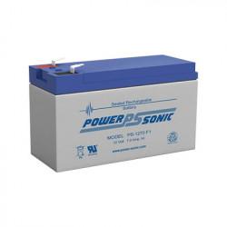POWER SONIC - PS-1270-F1 - Batería de Respaldo UL de 12V 7AH / Ideal para Sistemas de Detección de Incendio / Control de Acceso / Intrusión / Videovigilancia / Terminales Tipo F1