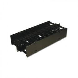 SIEMON - HCM-4-2U-D - Organizador de Cable Horizontal RouteIT Doble Para Rack de 19in 4in de profundidad 2UR