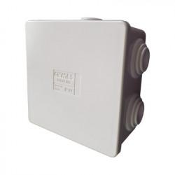 GEWISS - GW-44-003 - Caja de derivación de PVC Autoextinguible con 6 entradas tapa a presión 80x80x40 MM (Medidas internas mayor área permisible para el cable Para instalación al exterior (IP44)