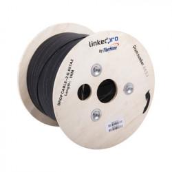 LINKEDPRO BY FIBERHOME - IC-DROPA2-2C - Carrete de 1 km de Fibra Óptica Drop Interior/Exterior G.657A2 Monomodo de 2 hilos Dieléctrica Forro Negro