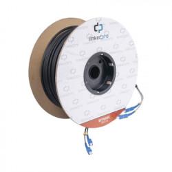 LINKEDPRO - EF-100-SC - Carrete de Fibra Óptica Monomodo con conectores SC-SC Duplex Reforzada con Kevlar de 100 metros