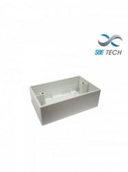 SBE TECH - SBE-CUNIV2 - SBETECH SBE-CUNIV2- Caja universal de PVC 2X4 reforzada/ Rango de temperatura de trabajo -20ºC hasta +65ºC/ Facil instalación/ Fácil limpieza