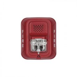 SYSTEM SENSOR - P2R-L - Sirena con Lámpara Estroboscópica a 2 Hilos Montaje en Pared Color Rojo con Configuración Estroboscópica Seleccionable Nuevo Diseño Moderno y Elegante y Menor Consumo de Corriente