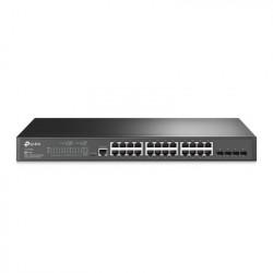 TP-LINK - TL-SG3428 - Switch JetStream SDN Administrable 24 puertos 10/100/1000 Mbps + 4 puertos SFP administración centralizada OMADA SDN
