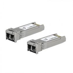 UBIQUITI NETWORKS - UF-MM-10G - UFiber Módulo SFP+ 10G transceptor MiniGibic MultiModo 10 Gbps distancia 300m conectores LC paquete de 2 piezas