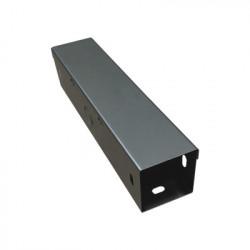 CHAROFIL - CH-DC100X100L - Ducto Cuadrado Embisagrado 10 x 10 cm fabricado en lámina de acero al carbón hasta 159 cables cat6 incluye cople con tornillería y 1 knock out por lado