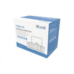 HiLook by HIKVISION - KIT7204BP - KIT TurboHD 720p / DVR 4 canales / 4 Cámaras Bala de Policarbonato / 4 Cables 18 Mts / 1 Fuente de Poder Profesional