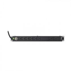 "LINKEDPRO - HTCM-1U - Tomacorriente Horizontal (PDU) de 8 Contactos (NEMA 5-15R) Rack 19"" 1UR. Voltaje Entrada/Salida: 120Vca/15A"