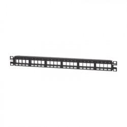 PANDUIT - NKPP24FMY - Panel de Parcheo Modular Keystone (Sin Conectores) Numerado y Espacio para Etiquetas de 24 puertos 1UR