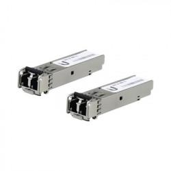 UBIQUITI NETWORKS - UF-MM-1G - UFiber Módulo SFP transceptor MiniGibic MultiModo 1.25 Gbps distancia 550m conectores LC paquete de 2 piezas