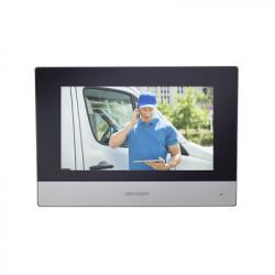 """HIKVISION - DS-KH6320-WTE1 - Monitor IP WiFi Touch Screen 7"""" para Videoportero IP / Vídeo en Vivo / PoE Estándar / Apertura Remota / Llamada Entre Monitores / Audio de dos vías / Policarbonato"""