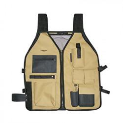 SURTEK - SYS-124191 - Chaleco porta herramientas 6 compartimientos con cinturones ajustables.
