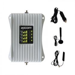 EPCOM - EP-AM23-4G - KIT de Amplificador de Señal Celular Para Vehículo | Soporta y Mejora la Señal Celular 4.5G 4G LTE y 3G de cualquier Operador | Multiusuarios ideal para cualquier tipo de Vehículo de Pasajeros Camioneta Pick up o Sed&aacut
