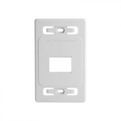 SIEMON - MX-FP-S-02-02 - Placa de pared modular MAX de 2 salidas color blanco