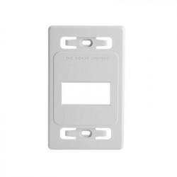 SIEMON - MX-FP-S-03-02B - Placa de pared modular MAX de 3 salidas color blanco version bulk (Sin Empaque Individual)
