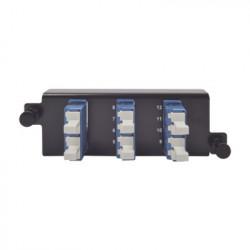 "SIEMON - PPM-F-LCU12-01 - Placa acopladora de Fibra Óptica ""Plug and Play"" Con 6 Conectores LC Duplex (12 Fibras) Para Fibra Monomodo Azul"